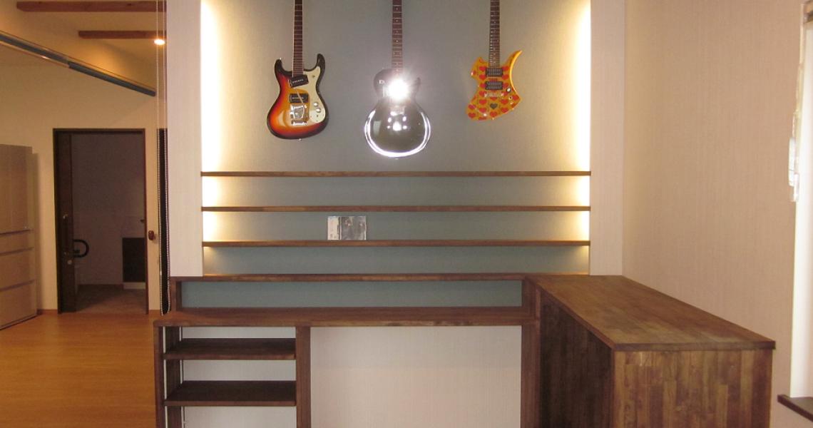 趣味のギターを眺められます♪